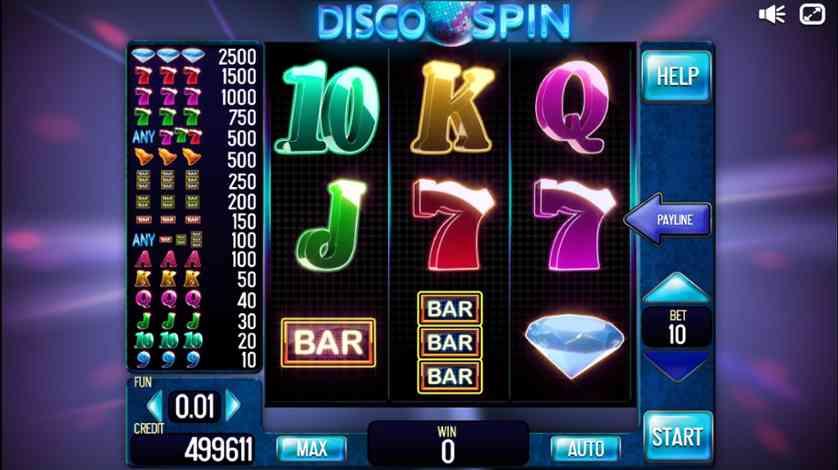 Spielen Sie Disco Spin kostenlos im Demo Mode von InBet