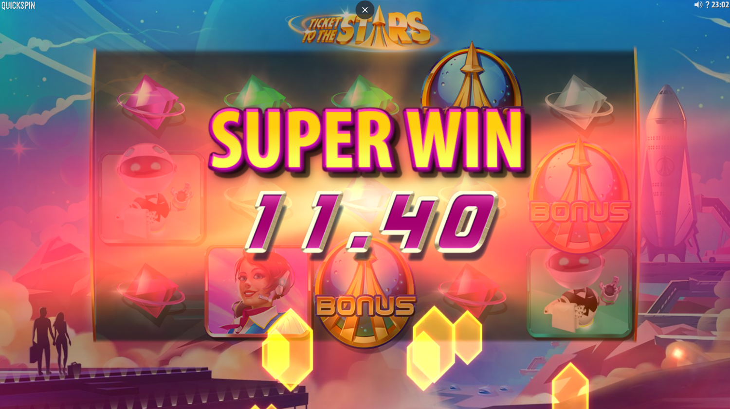 Ticket to the Stars super win