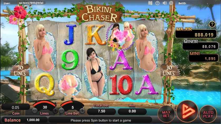 Spielen Sie Bikini Chaser kostenlos im Demo Mode von SimplePlay