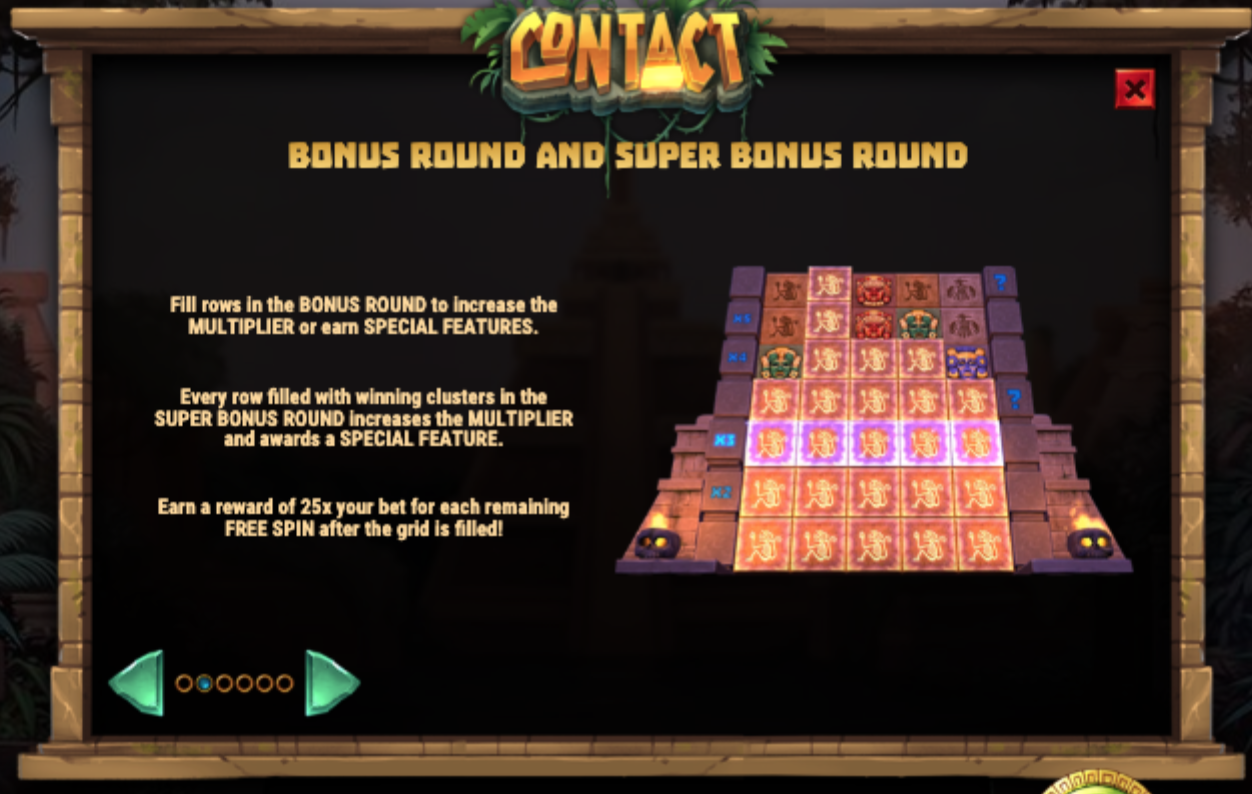 Contact slot bonus round rules
