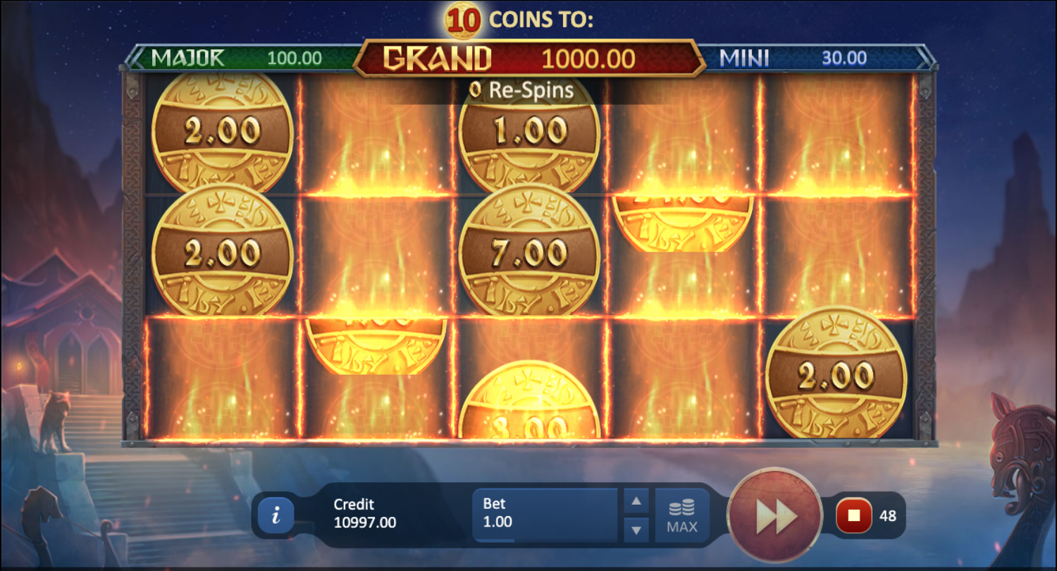 Vikings Fortune Bonus Game respin