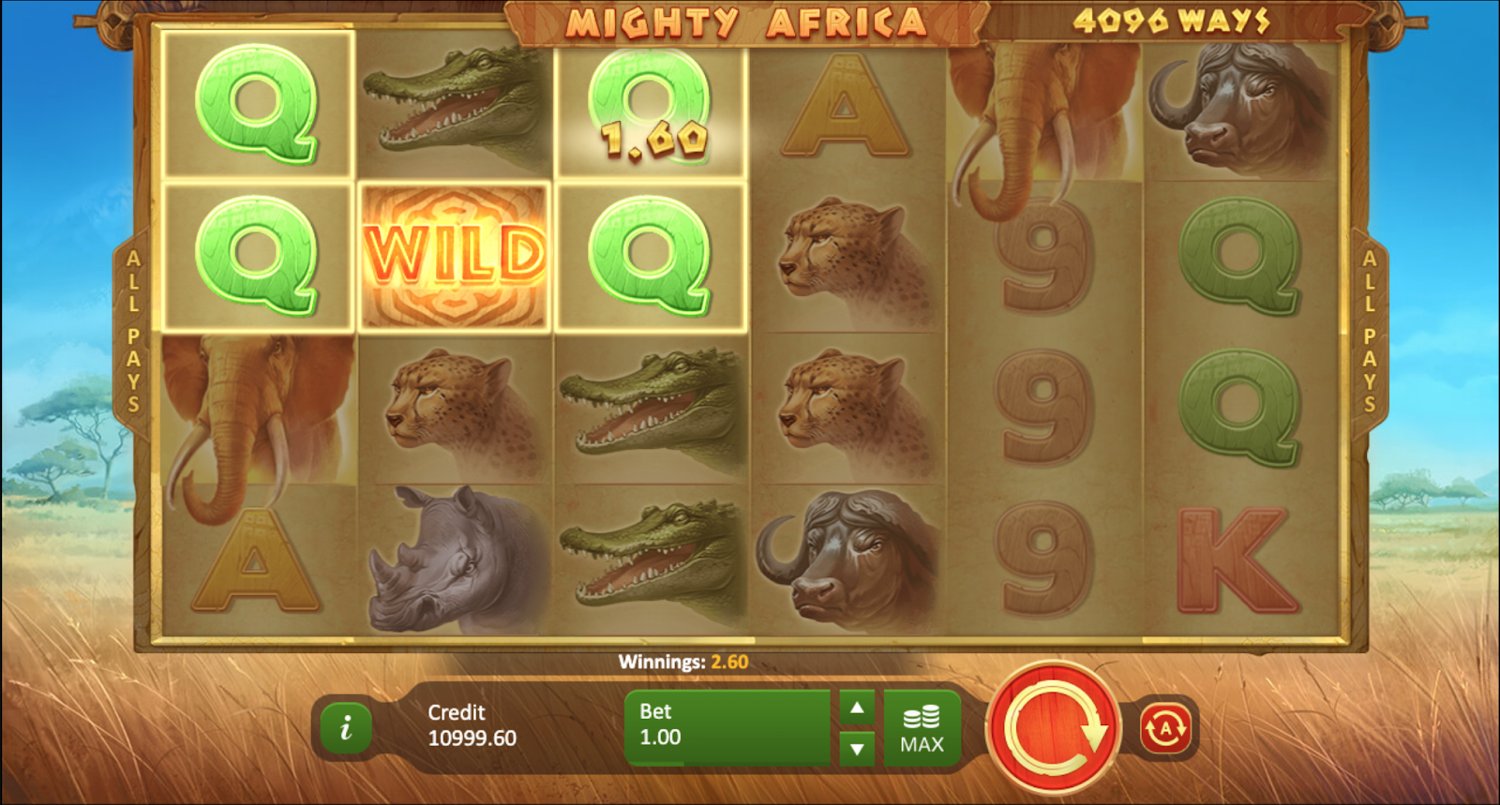 Mighty Africa slot win