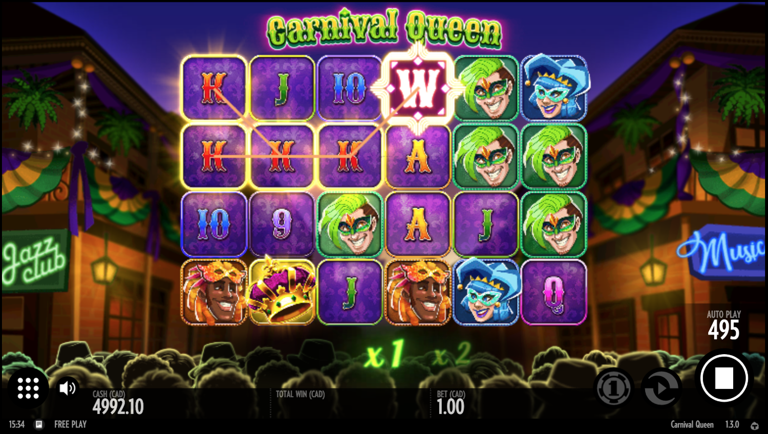 Carnival Queen any way win system