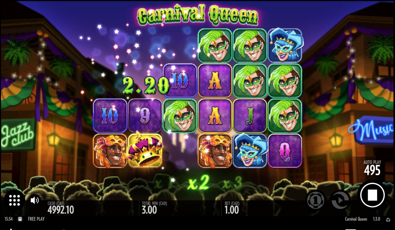 Carnival Queen cascade system