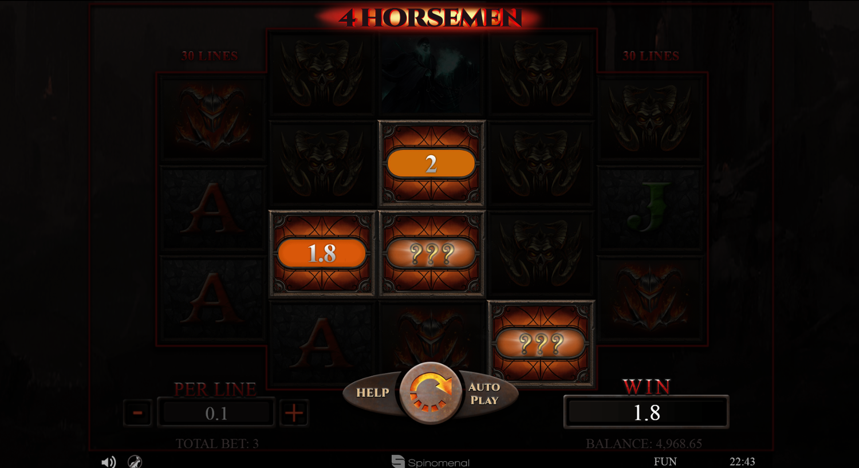 4 Horsemen slot bonus symbol win