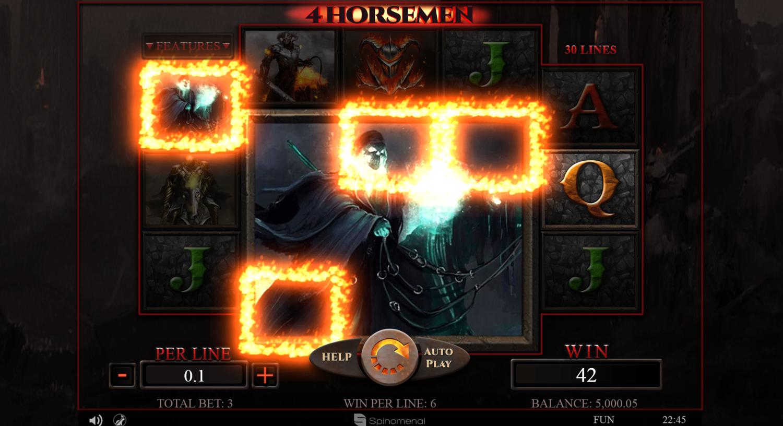 4 Horsemen slot Mega symbol win