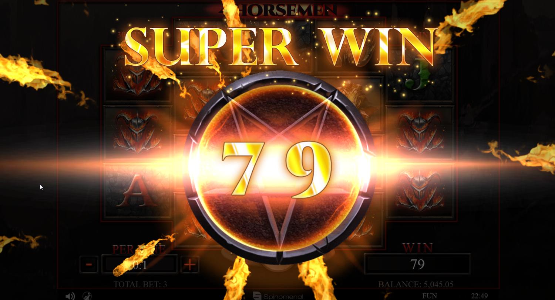 4 Horsemen slot Super big win
