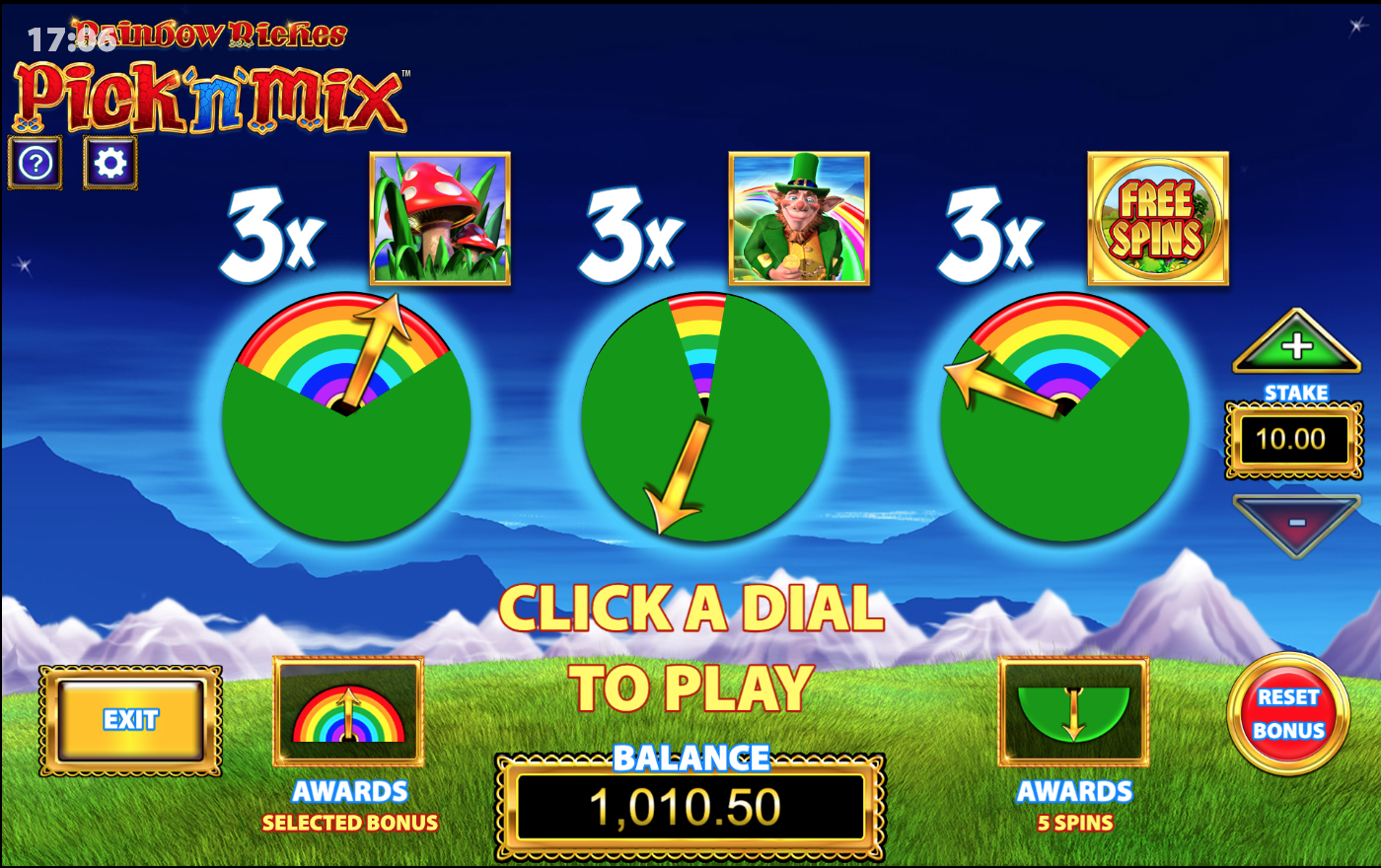 Rainbow Riches Pick'n'Mix Big Bet game
