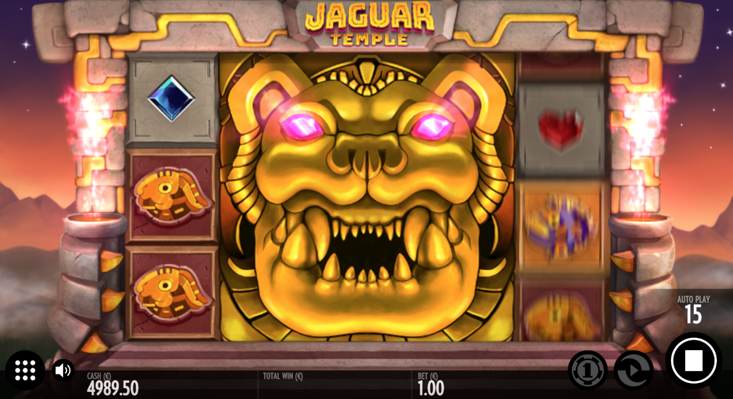 Jaguar Temple big 3x3 bonus symbol