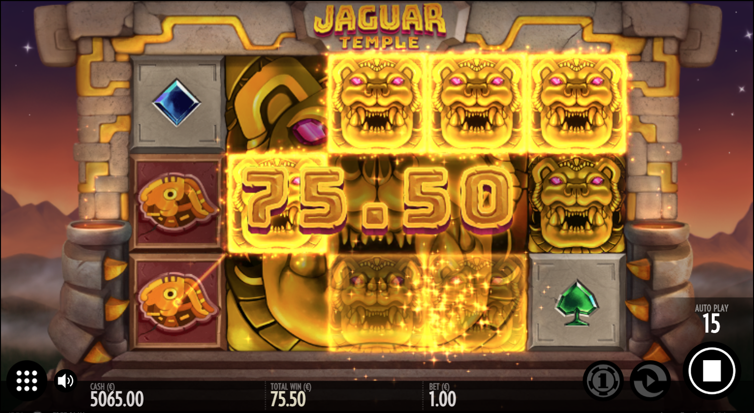 Jaguar Temple bonus symbol big win