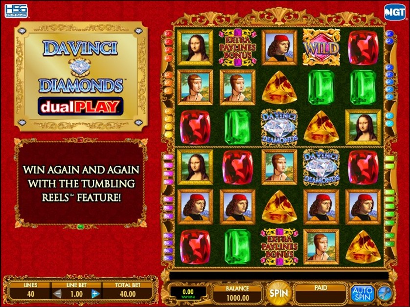 Da Vinci Diamonds Dual Play Free Slots.jpg