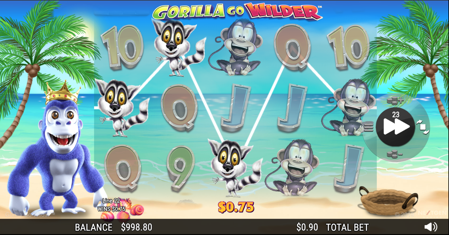 Gorilla Go Wilder base game win