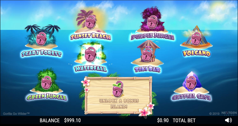 Gorilla Go Wilder bonus games