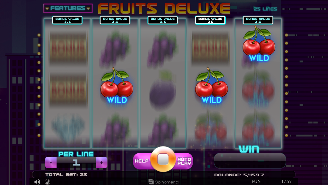 Fruits Deluxe slot Extra Wilds feature