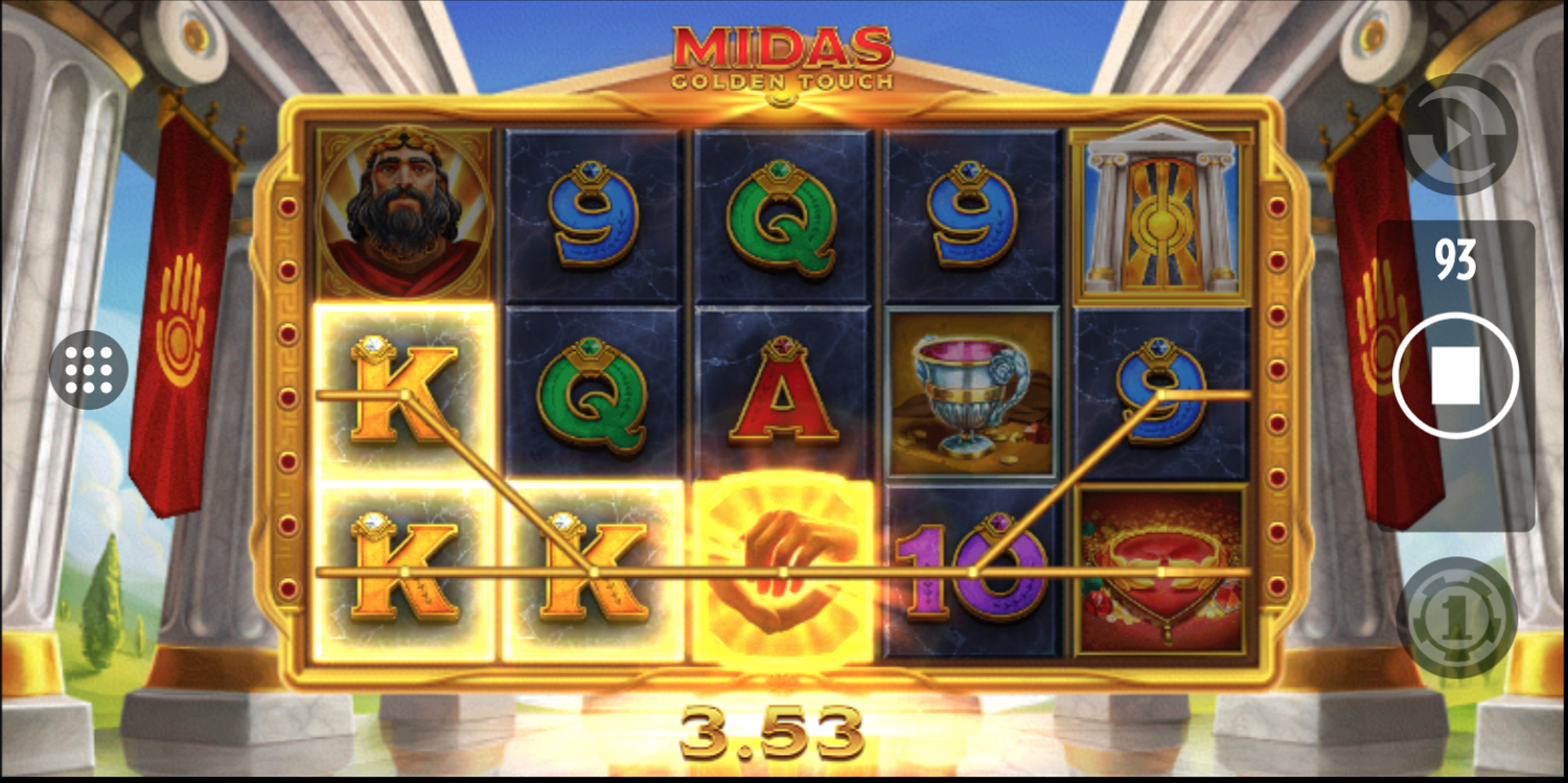 Midas Golden Touch win with a single wild