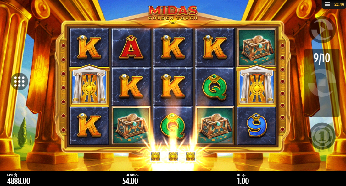 Midas Golden Touch extra 10 free spins