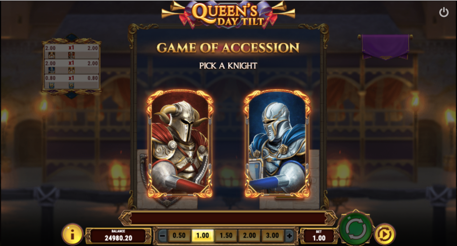 Бонусна гра Game of Accession у Queen's Day Tilt