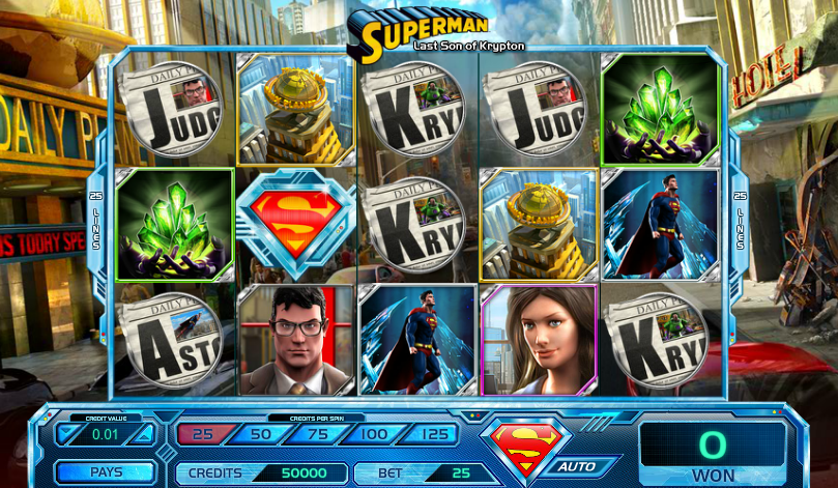 Superman Last Son of Krypton Free Slots.png