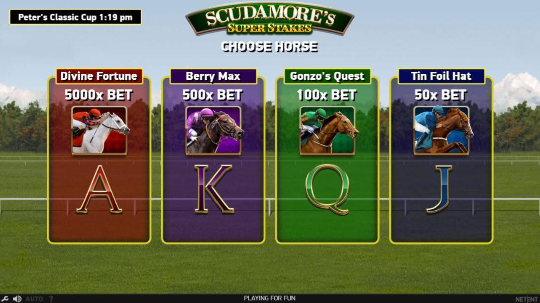 Scudamore's Super Stakes free spins bonus