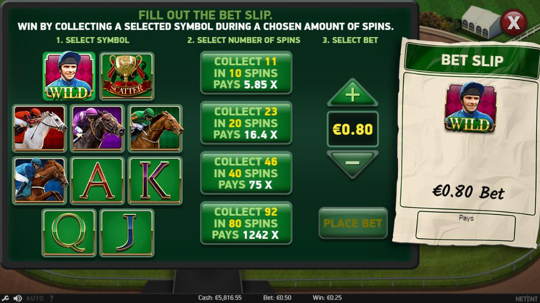 Scudamore's Super Stakes Bet Slip feature