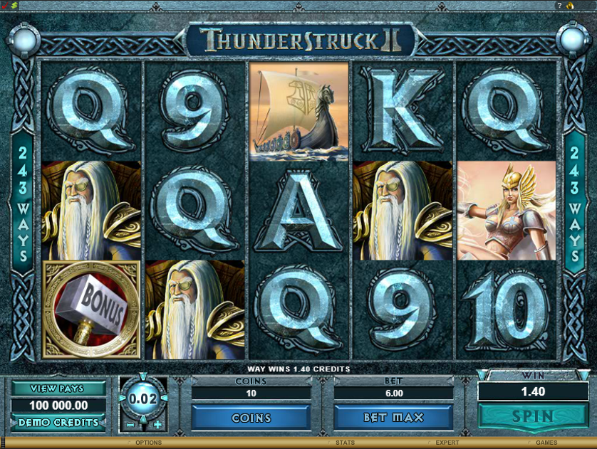 Thunderstruck II Free Slots.png