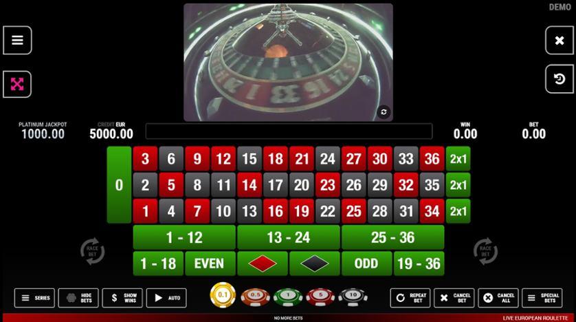 Spielen Sie European Roulette (Section8) kostenlos im Demo Mode von Section8