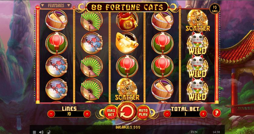 88 Fortune Cats Free Play In Demo Mode