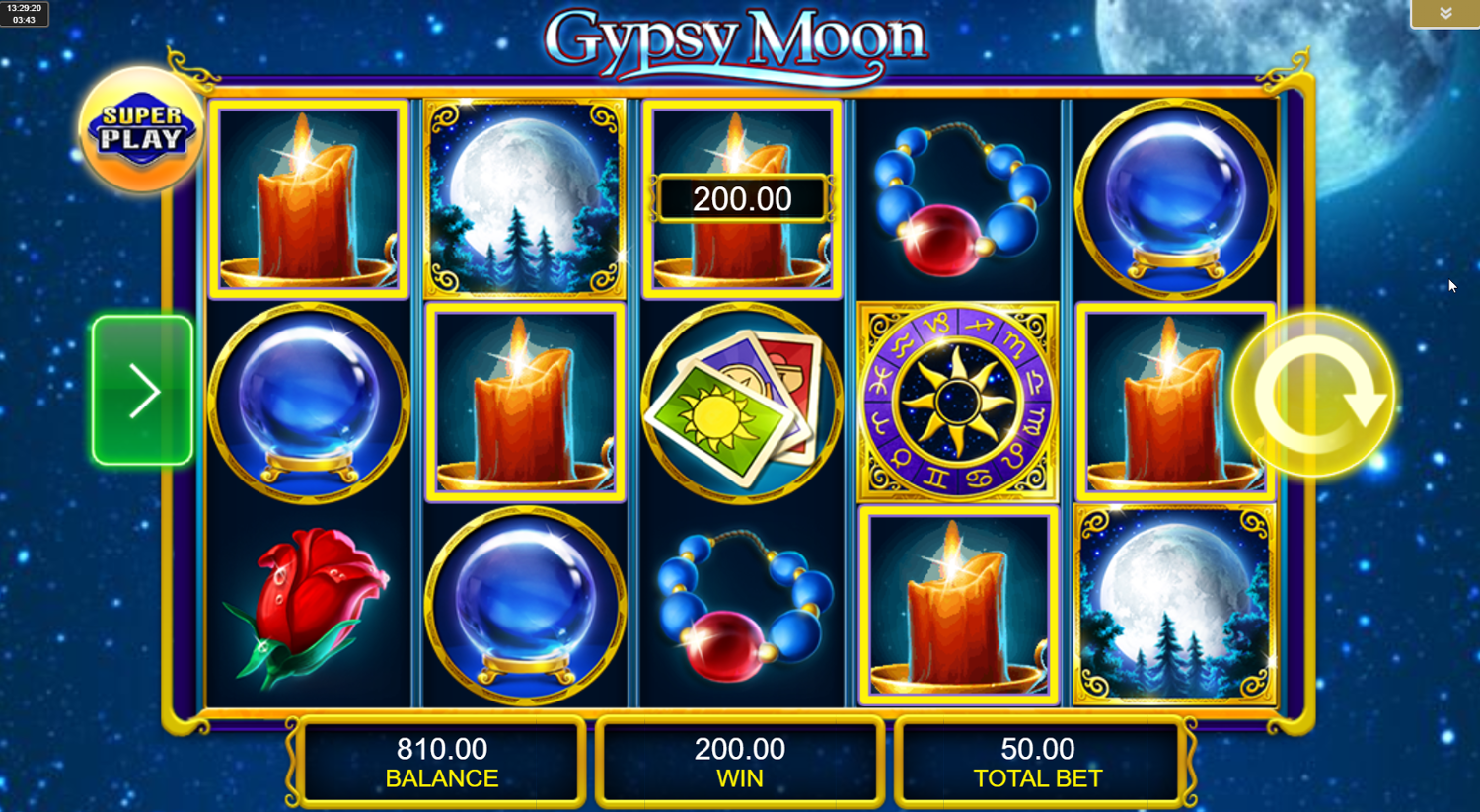 Gypsy Moon Free Play in Demo Mode and Game Review