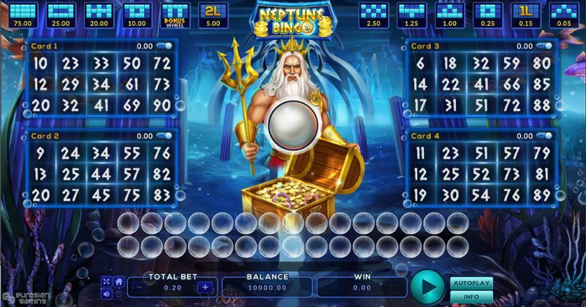 Play Free Neptune Bingo Game