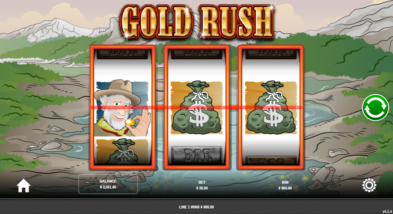 Печалба със скатер символ в Gold Rush (Rival)