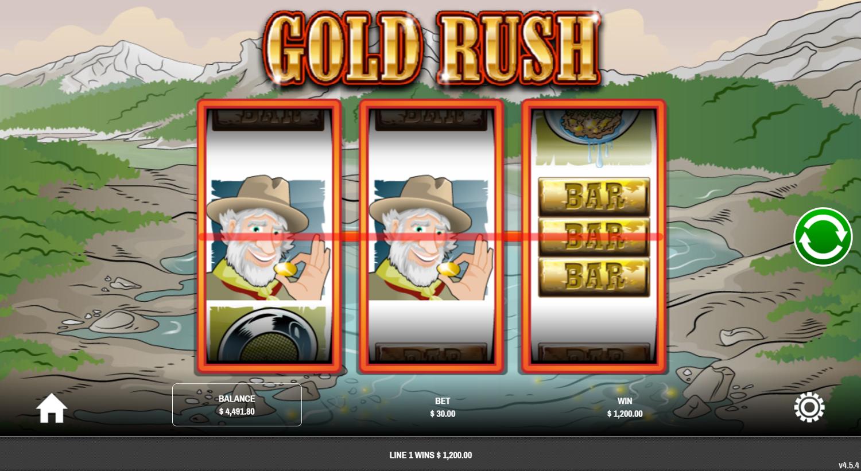 Голяма печалба с 2 уайлд символа в Gold Rush (Rival)