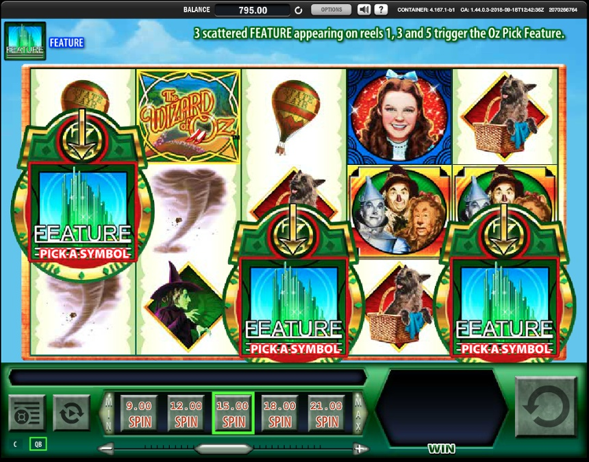 สล็อต Wizard of Oz - คุณสมบัติโบนัส Emerald City