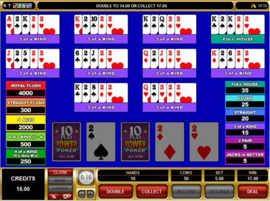 Multi-Hand Video Poker