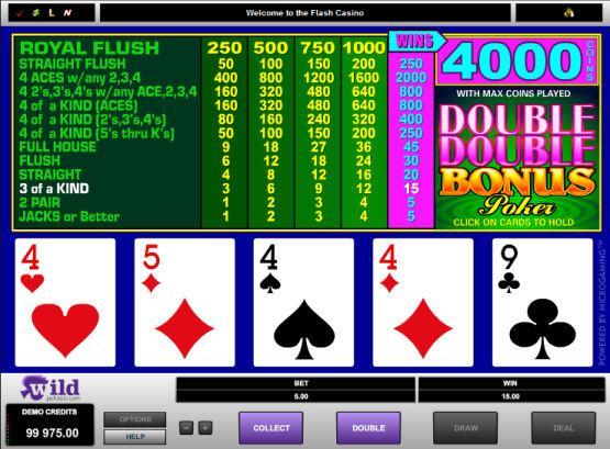 Free Double Double Bonus Poker Online