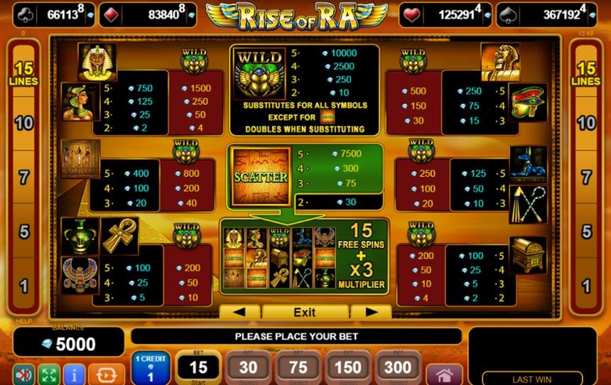 Casino Games Rise Of Ra