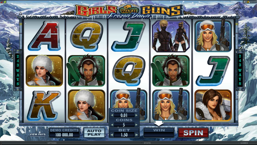 Girls With Guns - Frozen Dawn Free Slots.png