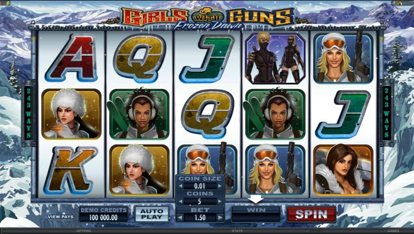 Girls With Guns - Frozen Dawn Free Slots.png