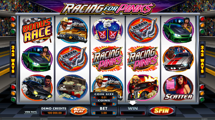 Racing for Pinks Free Slots.png