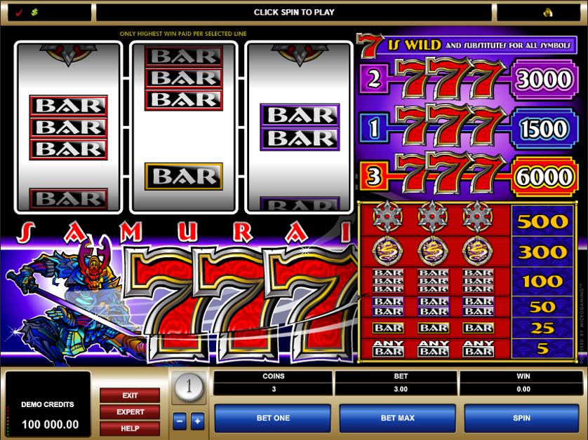 Samurai 7's Free Slots.png
