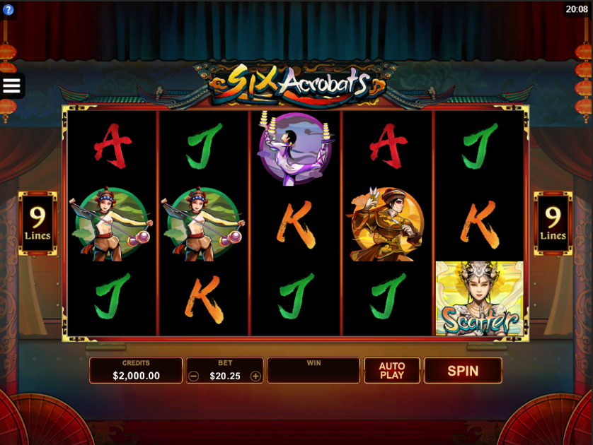 Six Acrobats Free Slots.png