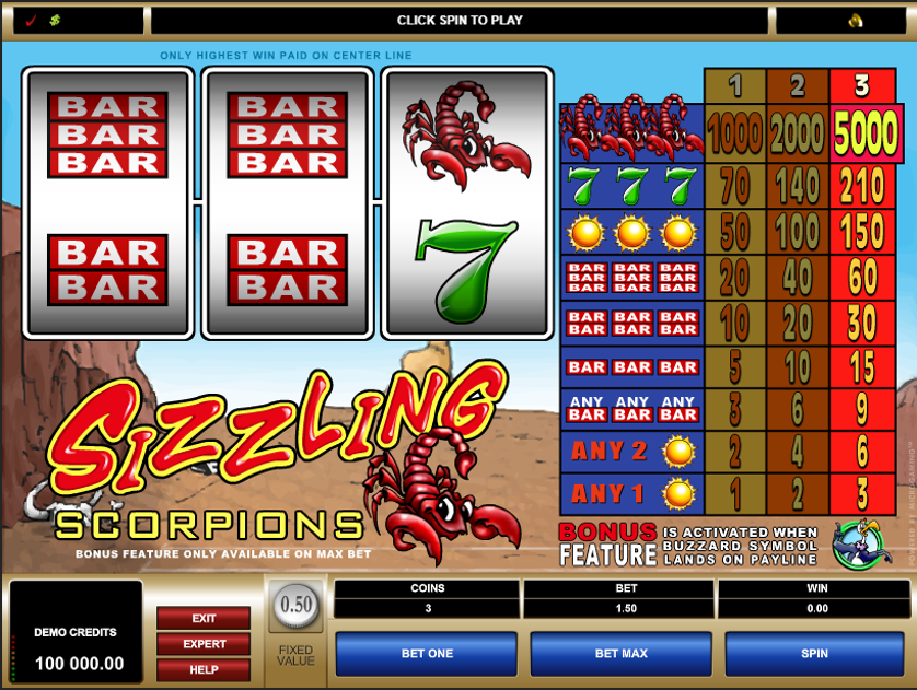 Sizzling Scorpions Free Slots.png