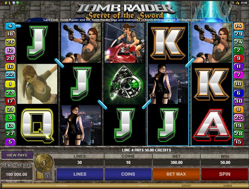 Tomb Raider Secret of the Sword Free Slots.png