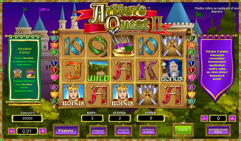 Arthur's Quest 2 Free Slots.png