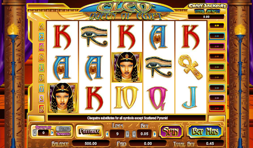 Cleo Queen of Egypt Free Slots.png