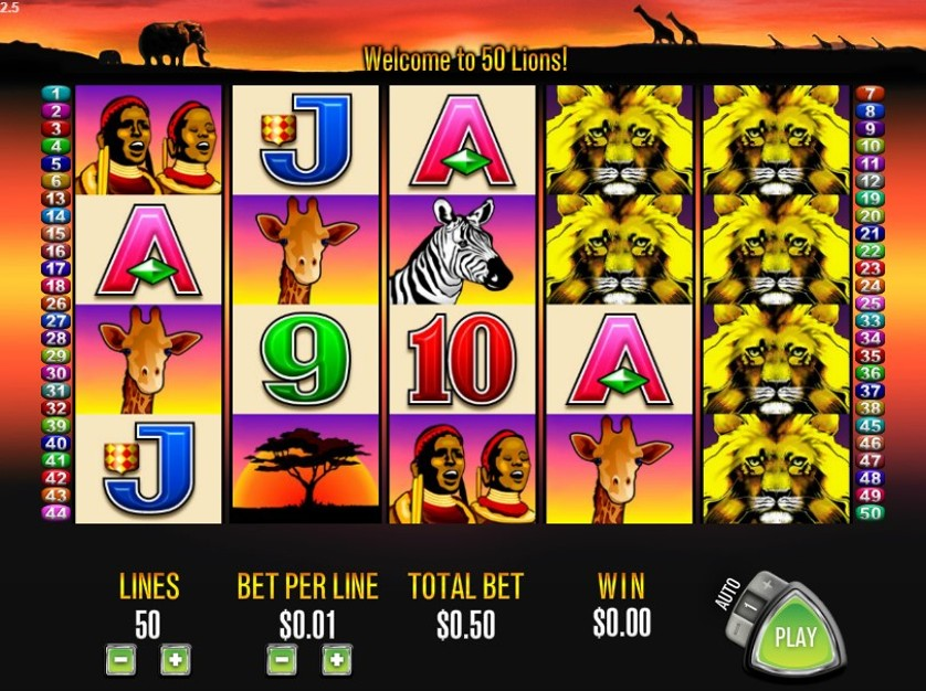50 lions slot machine free games