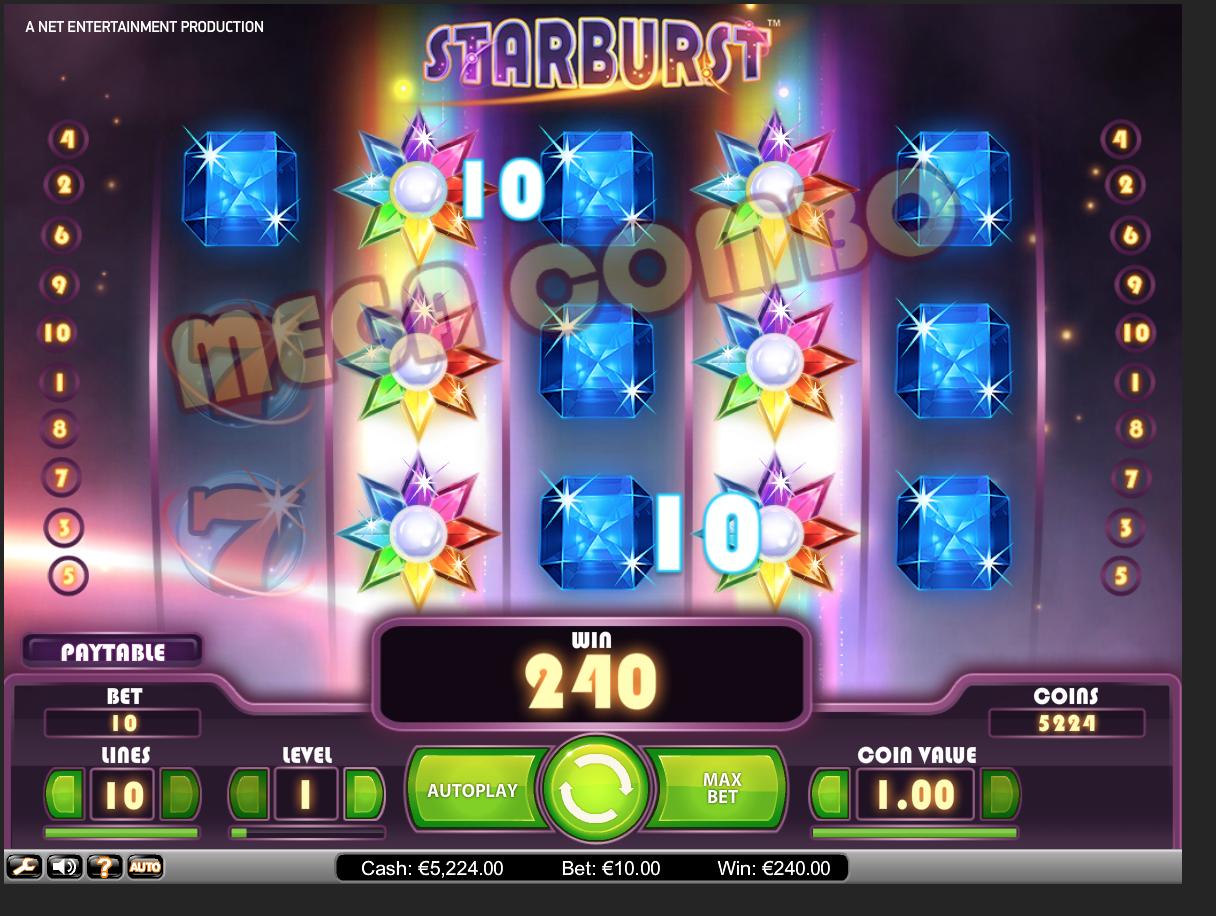 Starburst Free Spin win