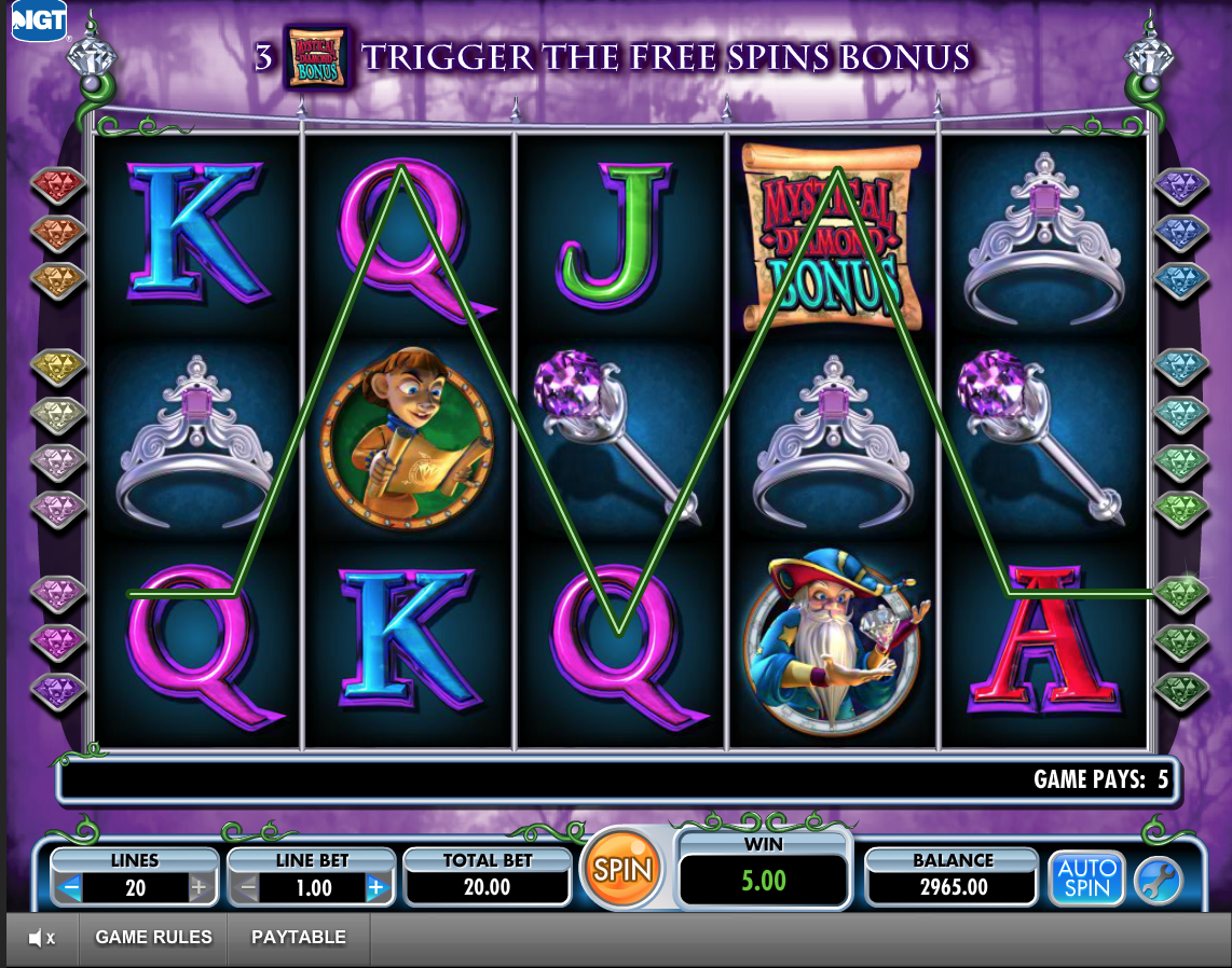 Diamond Queen 20 Lines Slot