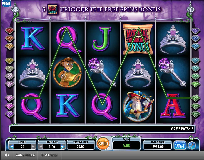 Diamond Queen 20 Lines Slot