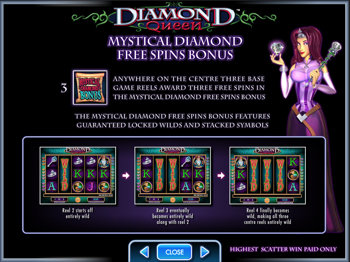 Diamond Queen Free Spins