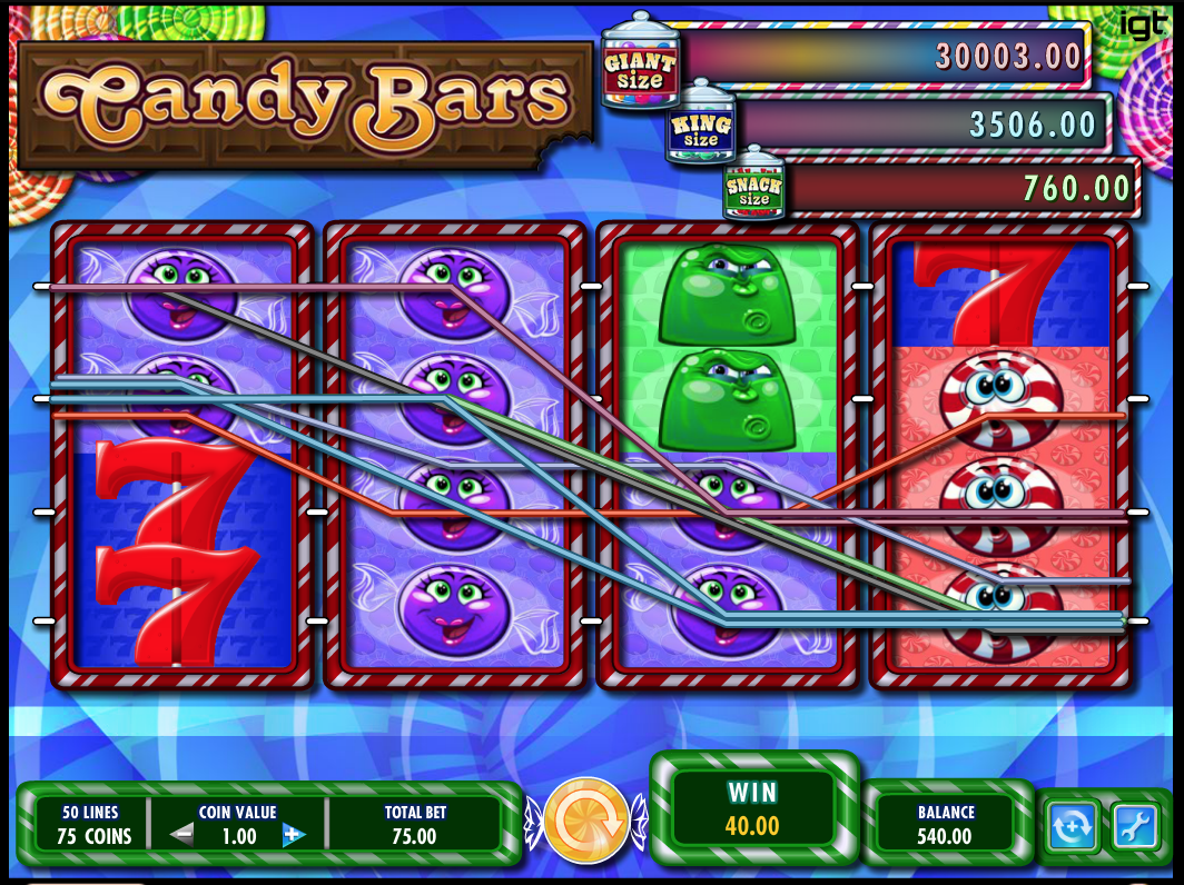 Candy Bars 50 Lines Slot